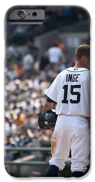 Detroit Tigers Baseball Art iPhone Cases - Inge iPhone Case by Cindy Lindow
