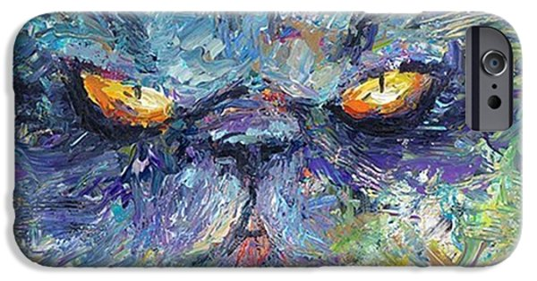 iPhone 6 Case - Intense Palette Knife  Persian Cat by Svetlana Novikova