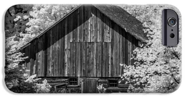 Old Barns iPhone Cases - IR Barn iPhone Case by David Heilman