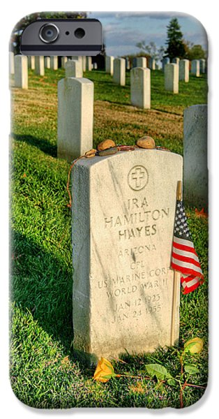 Usn iPhone Cases - Ira Hayes iPhone Case by JC Findley