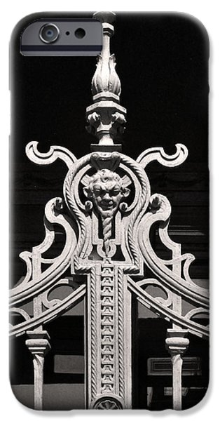 Iron Sculptures iPhone Cases - Iron Gate Sculpture Budapest iPhone Case by James Dougherty