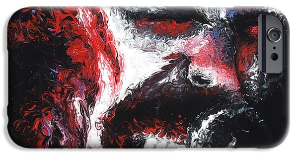 Metallica Paintings iPhone Cases - James Hetfield iPhone Case by Brian Carlton