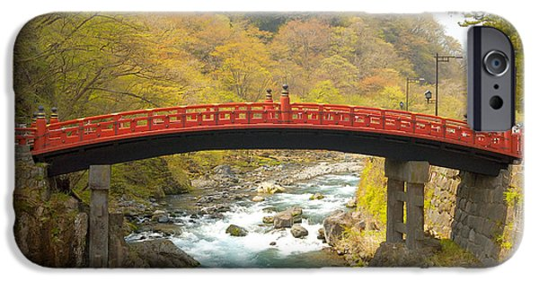 Fall Colors Photographs iPhone Cases - Japanese Bridge iPhone Case by Sebastian Musial