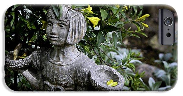 Garden Statuary iPhone Cases - Jasmine Statue iPhone Case by Teresa Mucha