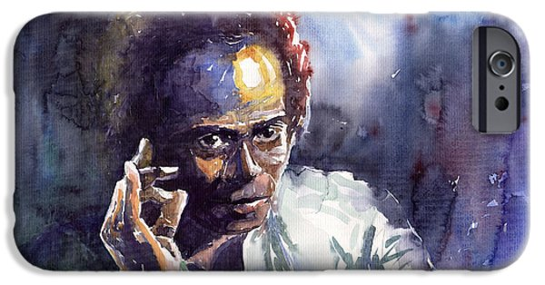 Miles Davis iPhone Cases - Jazz Miles Davis 11 iPhone Case by Yuriy  Shevchuk
