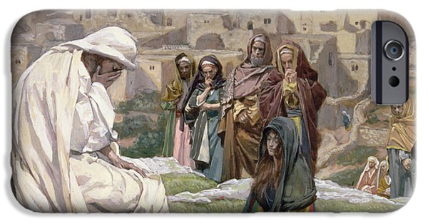 The Followers Paintings iPhone Cases - Jesus Wept iPhone Case by Tissot