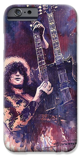 Star iPhone 6 Case - Jimmy Page  by Yuriy Shevchuk