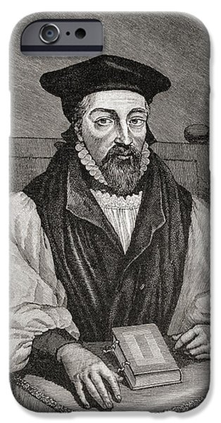 Religious Drawings iPhone Cases - John Whitgift C. 1530 To 1604 iPhone Case by Ken Welsh
