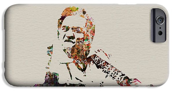 Idol Paintings iPhone Cases - Johnny Cash iPhone Case by Naxart Studio