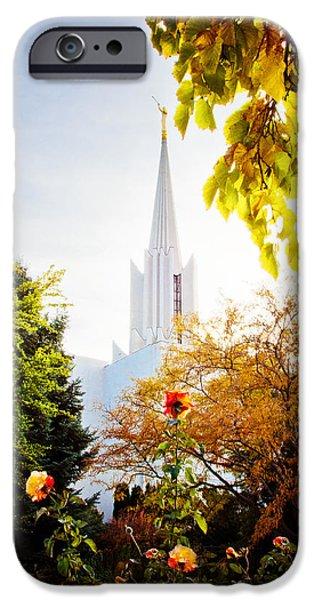 Jordan iPhone Cases - Jordan River Temple Rose iPhone Case by La Rae  Roberts