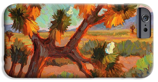 In Bloom Paintings iPhone Cases - Joshua Tree iPhone Case by Diane McClary