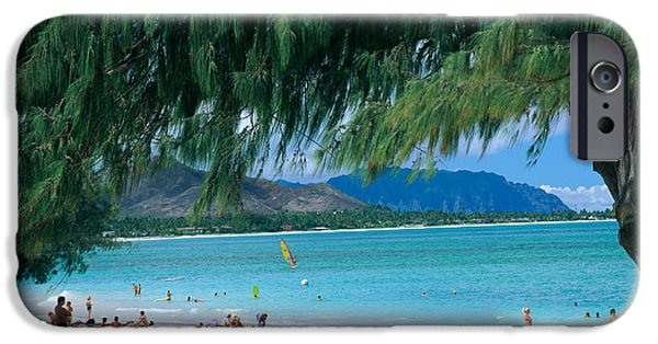 Windsurfer iPhone Cases - Kailua Beach Park iPhone Case by Peter French - Printscapes