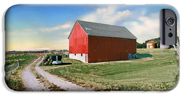 Farm iPhone Cases - Kansas landscape II iPhone Case by Steve Karol