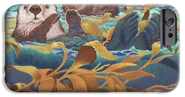 Gold Pastels iPhone Cases - Keepers of the Kelp iPhone Case by Tracy L Teeter