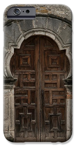 Mission San Francisco De La Espada iPhone 6 Case - Keyhole Doorway by Jurgen Lorenzen & Mission San Francisco De La Espada iPhone 6 Cases | Fine Art America