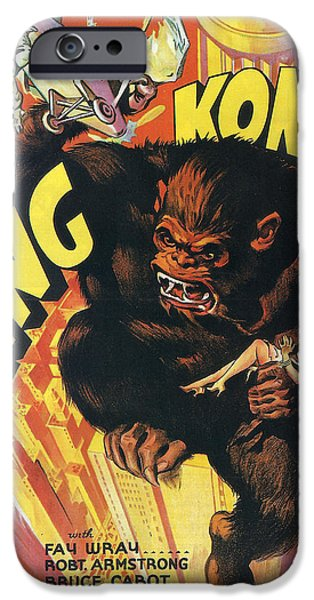 Fay iPhone Cases - King Kong iPhone Case by Nomad Art And  Design