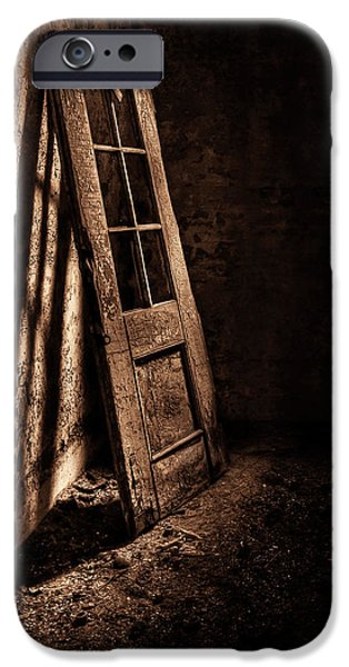 Penitentiary iPhone Cases - Knockin At The Wrong Door iPhone Case by Evelina Kremsdorf
