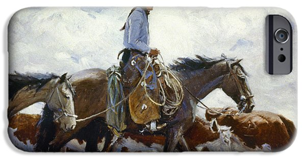 Stray iPhone Cases - Koerner: Cowboy, 1920 iPhone Case by Granger