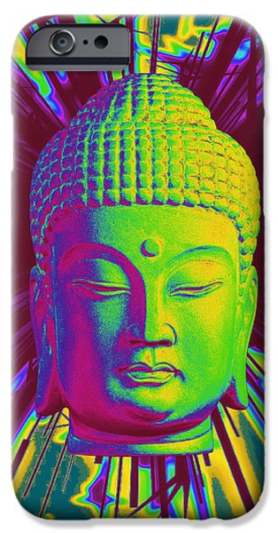 Buddhist Sculptures iPhone Cases - Korean sparkle iPhone Case by Terrell Kaucher