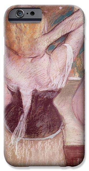 Best Sellers -  - Pastel iPhone Cases - La Toilette iPhone Case by Edgar Degas