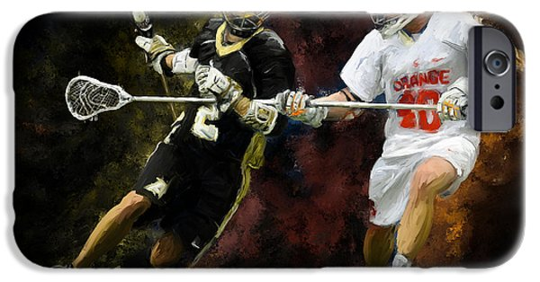 Scott Melby iPhone Cases - Lacrosse Close D #2 iPhone Case by Scott Melby