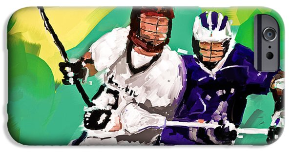 Scott Melby iPhone Cases - Lacrosse I iPhone Case by Scott Melby