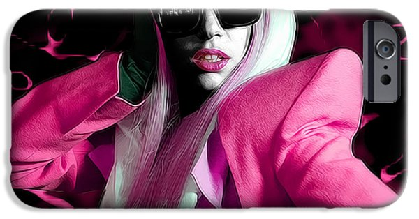 Lesbian iPhone Cases - Lady Gaga by GBS iPhone Case by Anibal Diaz