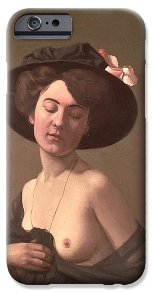 Woman In A Dress iPhone Cases - Lady in a Hat iPhone Case by Felix Edouard Vallotton