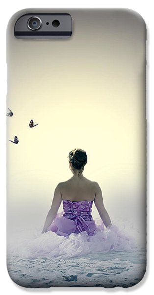 Formal iPhone Cases - Lady On The Beach iPhone Case by Joana Kruse