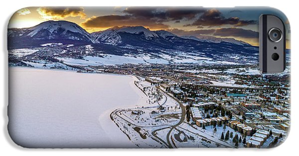 IPhone 6 Case featuring the photograph Lake Dillon Sunset by Sebastian Musial