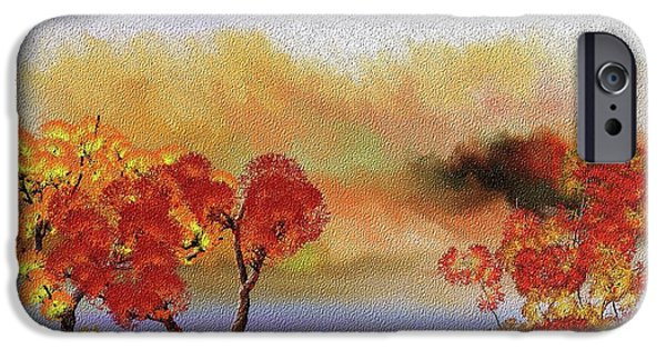 Fall Scenes iPhone Cases - Landscape 031111 iPhone Case by David Lane