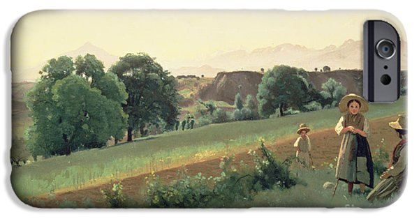 1796 iPhone Cases - Landscape at Mornex iPhone Case by Jean Baptiste Corot
