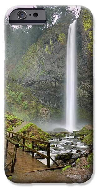 Pacific Northwest Rivers iPhone Cases - Latourell Falls Waterfall Columbia River Gorge Oregon 2 iPhone Case by Dustin K Ryan