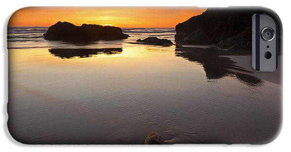 Oregon Coast iPhone Cases - Left by the Tides iPhone Case by Mike  Dawson