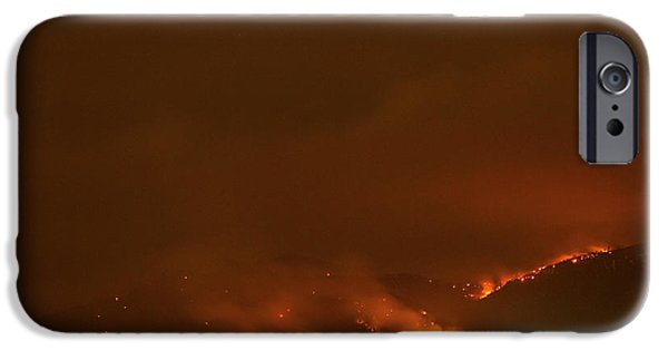 Colorado Fires iPhone Cases - Lefthand Canyon Wildfire Boulder Colorado iPhone Case by James BO  Insogna