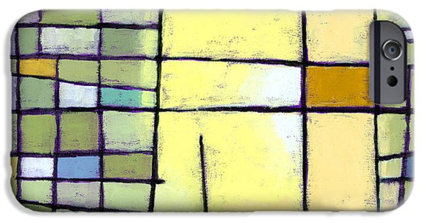 Abstract Lines iPhone Cases - Lemon Squeeze iPhone Case by Douglas Simonson