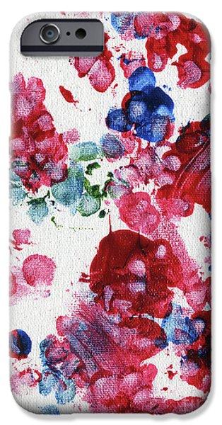 Dog Abstract Art iPhone Cases - Lians Garden 3 iPhone Case by Antony Galbraith
