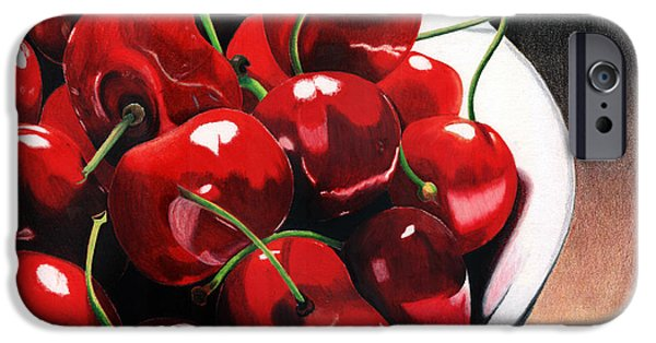 Cherry iPhone Cases - Life Is.... iPhone Case by Angela Armano