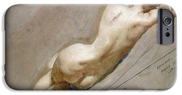 Odalisque iPhone Cases - Life study of the female figure iPhone Case by William Edward Frost
