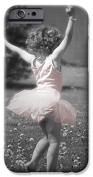 Little Girl iPhone Cases - Lifes a Dance iPhone Case by Cindy Singleton