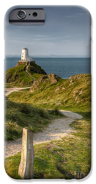North Wales Digital iPhone Cases - Lighthouse Twr Mawr iPhone Case by Adrian Evans