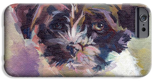 Dog And Toy iPhone Cases - Lilly Pup iPhone Case by Kimberly Santini