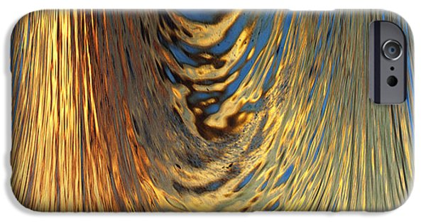 Abstract Digital Photographs iPhone Cases - Liquid Gold iPhone Case by Skip Nall
