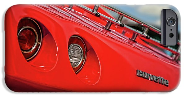 Indy Car iPhone Cases - Little Red 1977 Corvette  iPhone Case by Gordon Dean II