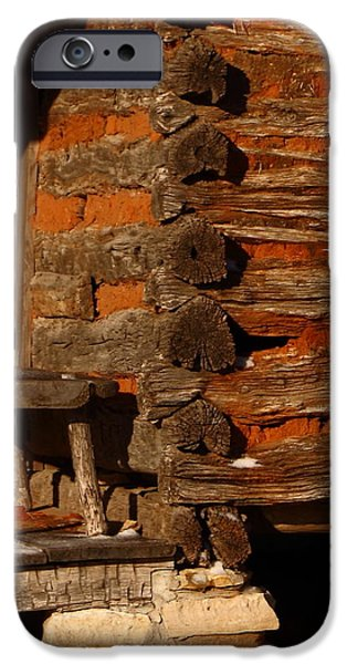 Log Cabin Art iPhone Cases - Log Cabin iPhone Case by Robert Frederick