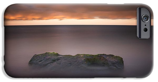 IPhone 6 Case featuring the photograph Lone Stone At Sunrise by Adam Romanowicz