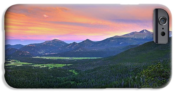 Longs Peak Sunset IPhone 6 Case by David Chandler