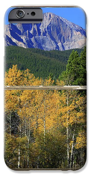 Stock Images iPhone Cases - Longs Peak Window View iPhone Case by James BO  Insogna