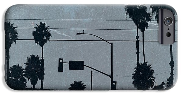 Modernism iPhone Cases - Los Angeles iPhone Case by Naxart Studio
