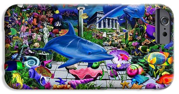 Atlantis iPhone Cases - Lost Undersea World iPhone Case by Gerald Newton
